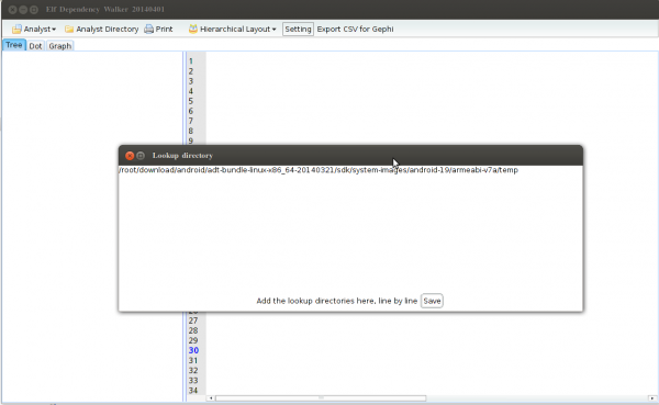 change the lookup directory path in elf-dependency-wwalker