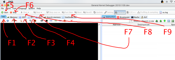 GKD debugger shortcut